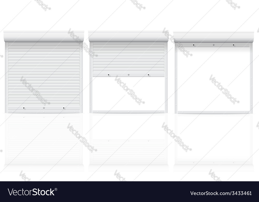 Rolling shutters 04 vector | Price: 1 Credit (USD $1)