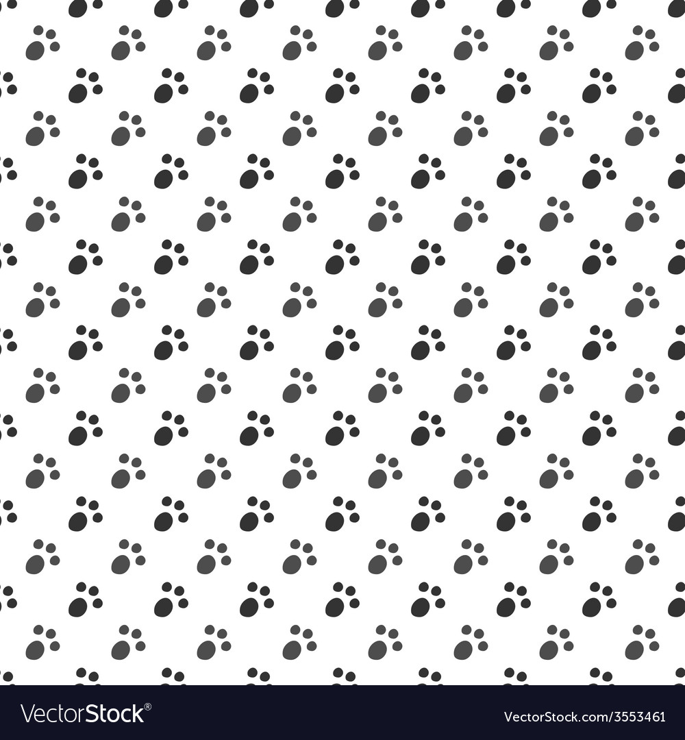 Seamless pattern of cat or dog footprint vector | Price: 1 Credit (USD $1)