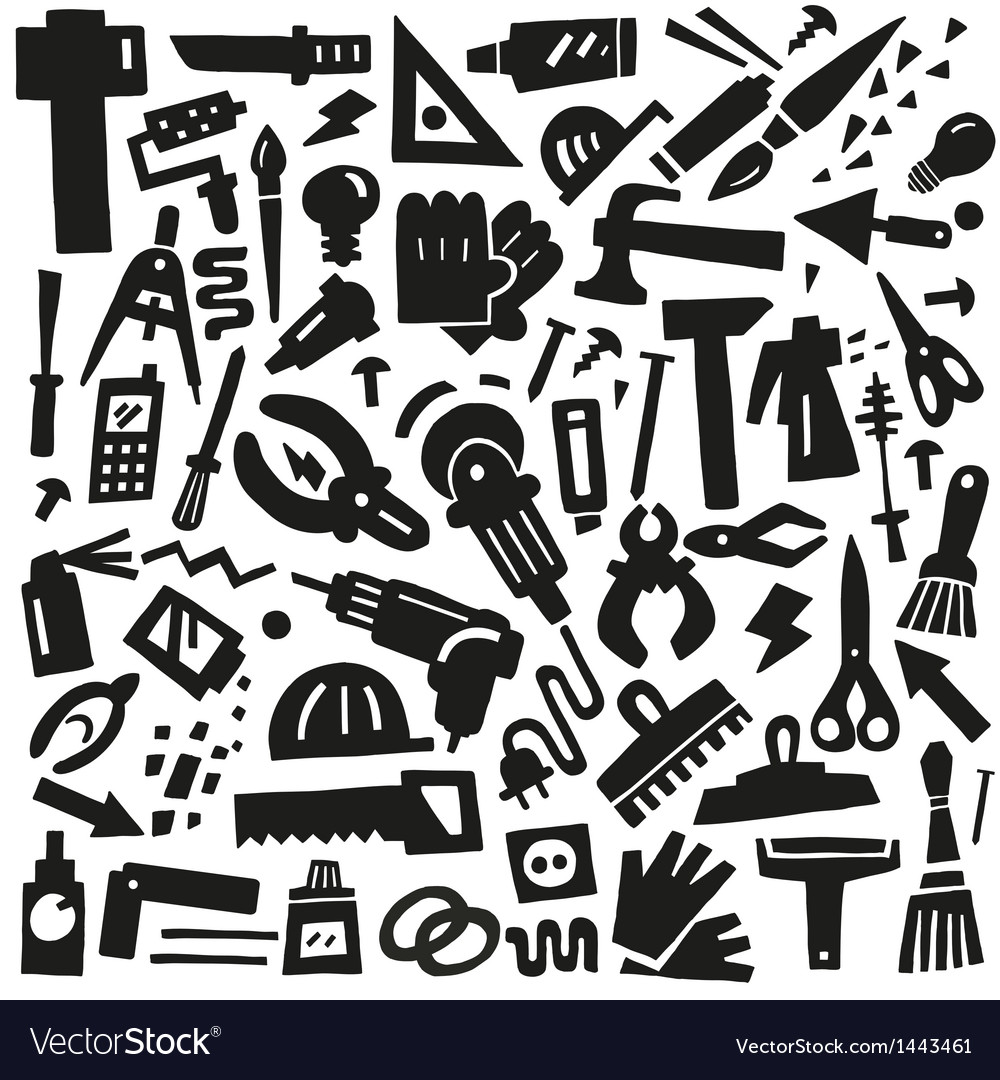 Work tools - doodles vector | Price: 1 Credit (USD $1)