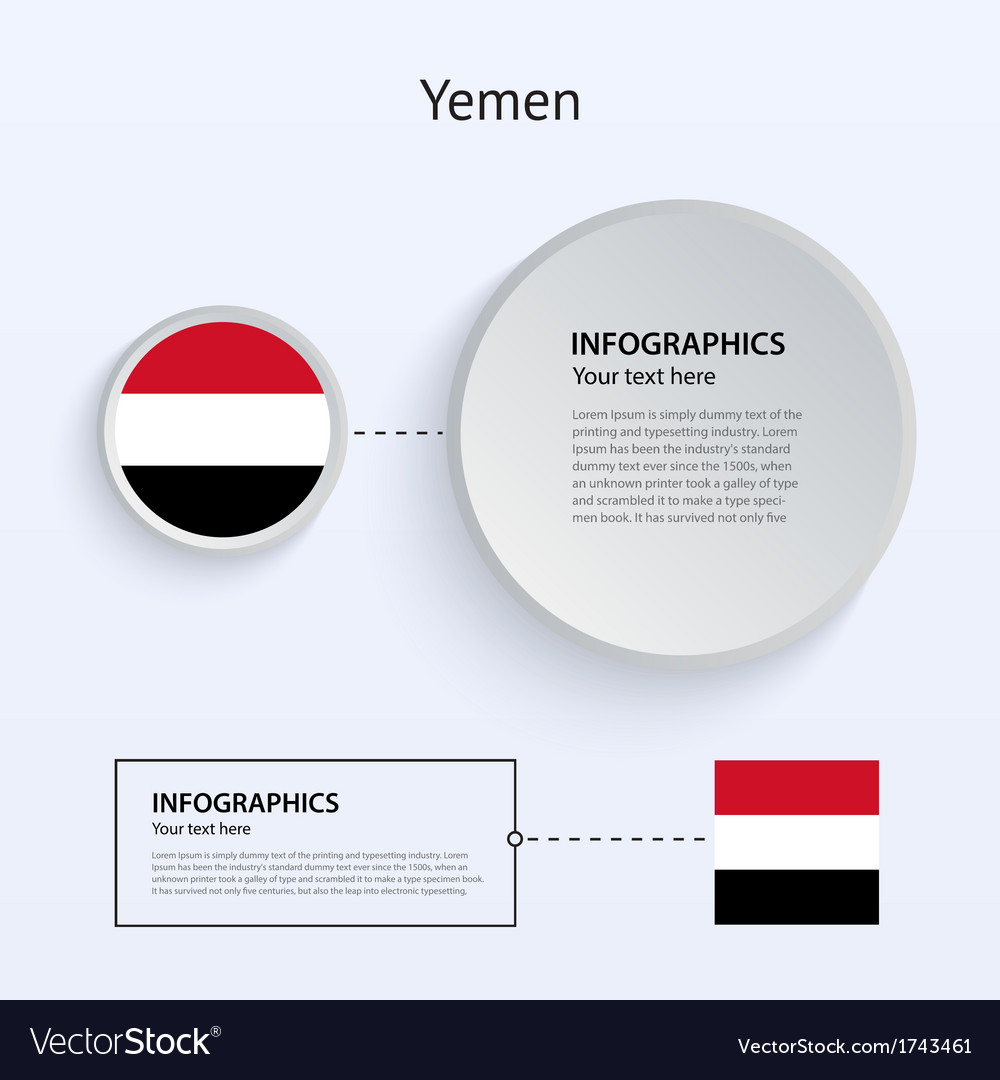 Yemen country set of banners vector | Price: 1 Credit (USD $1)