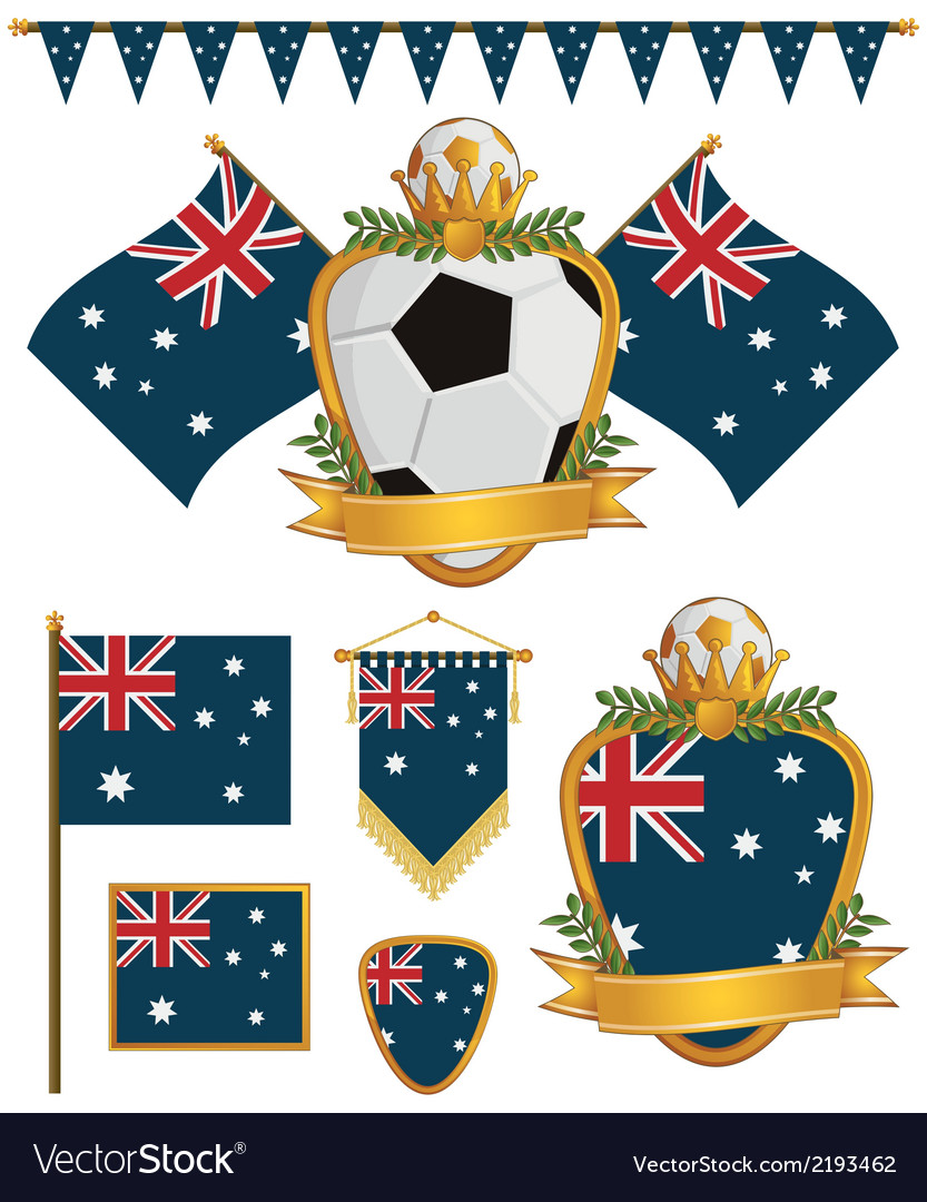 Australia flags vector | Price: 1 Credit (USD $1)