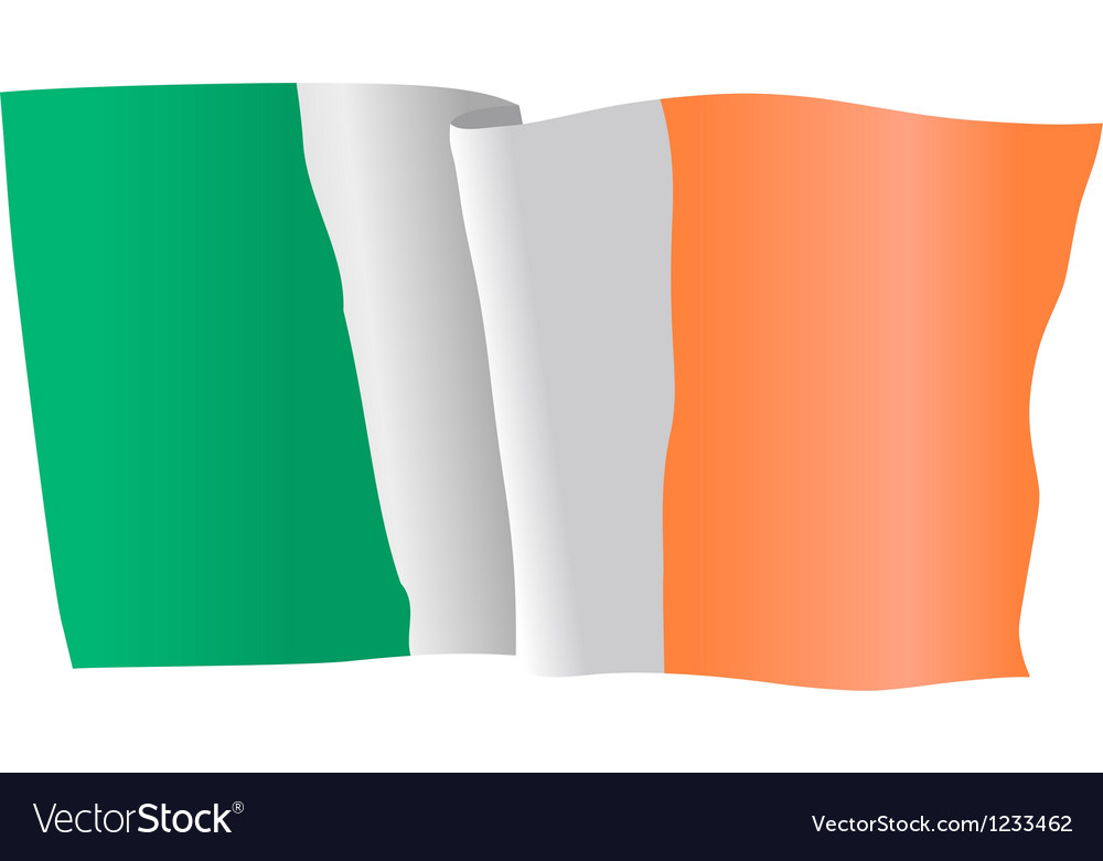 Flag of ireland vector | Price: 1 Credit (USD $1)