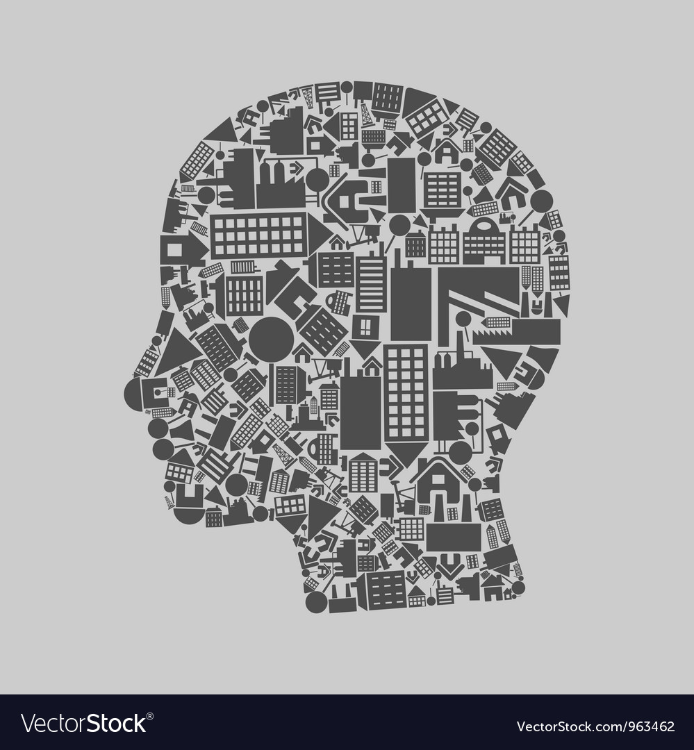 Head the house vector | Price: 1 Credit (USD $1)