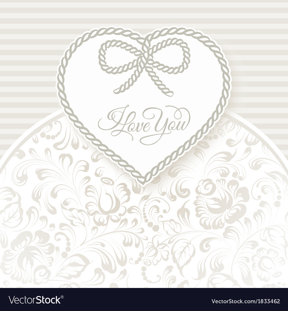 I love you - card vector | Price: 1 Credit (USD $1)