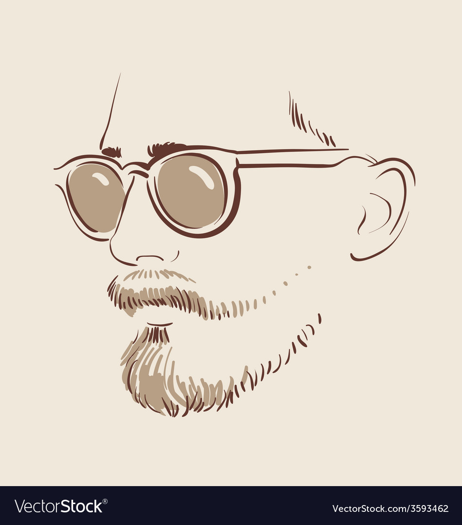 Man in glasses eps 10 vector | Price: 1 Credit (USD $1)