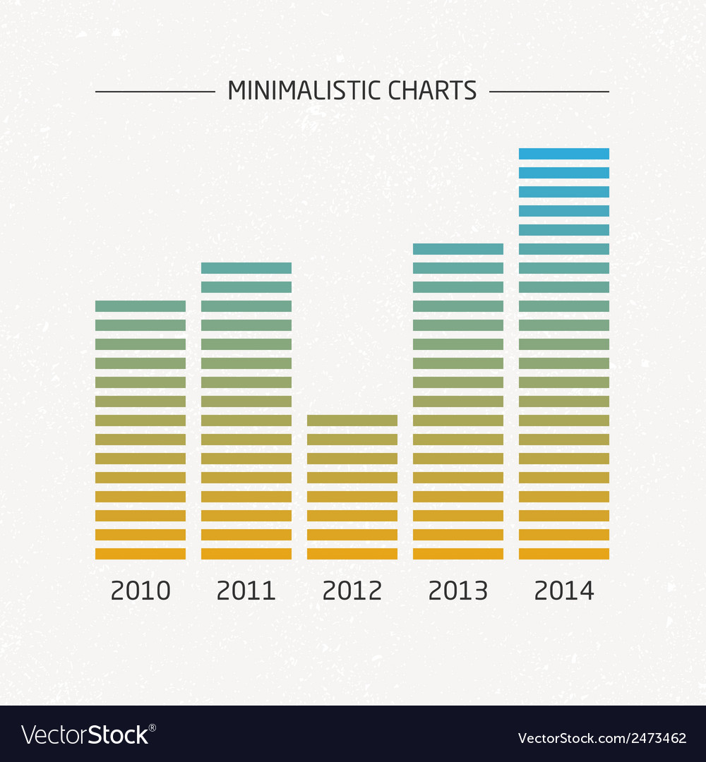 Minimalistic charts vector | Price: 1 Credit (USD $1)
