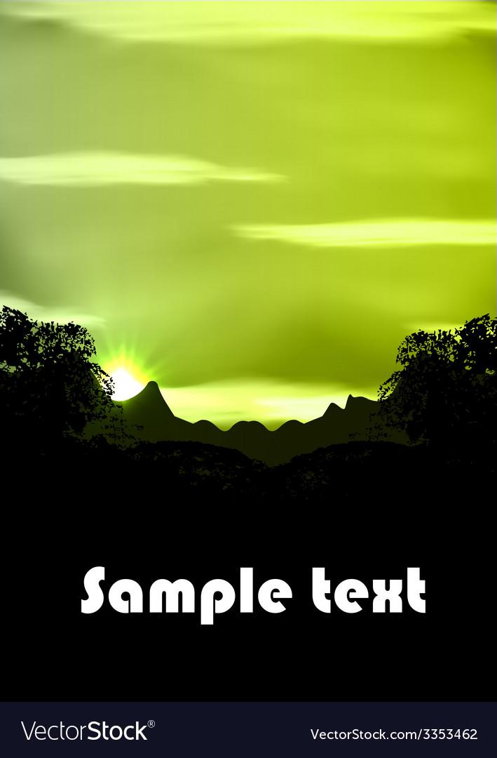 Rainforest vector | Price: 1 Credit (USD $1)