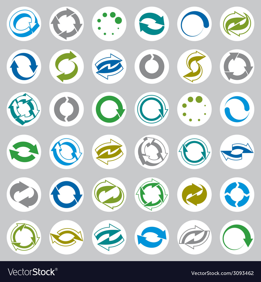 Reload icons set loop arrows refresh web theme vector | Price: 1 Credit (USD $1)