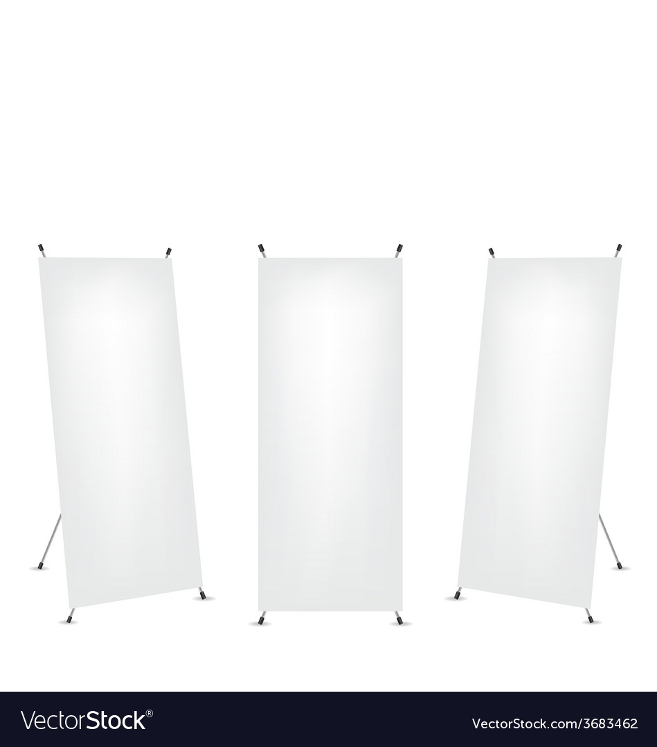 Roll up x-stand banner vector | Price: 1 Credit (USD $1)