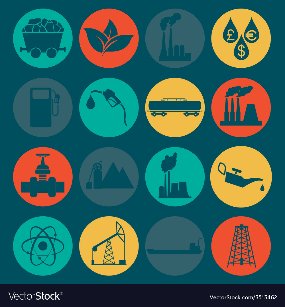 Set 16 fuel and energy icons vector | Price: 1 Credit (USD $1)