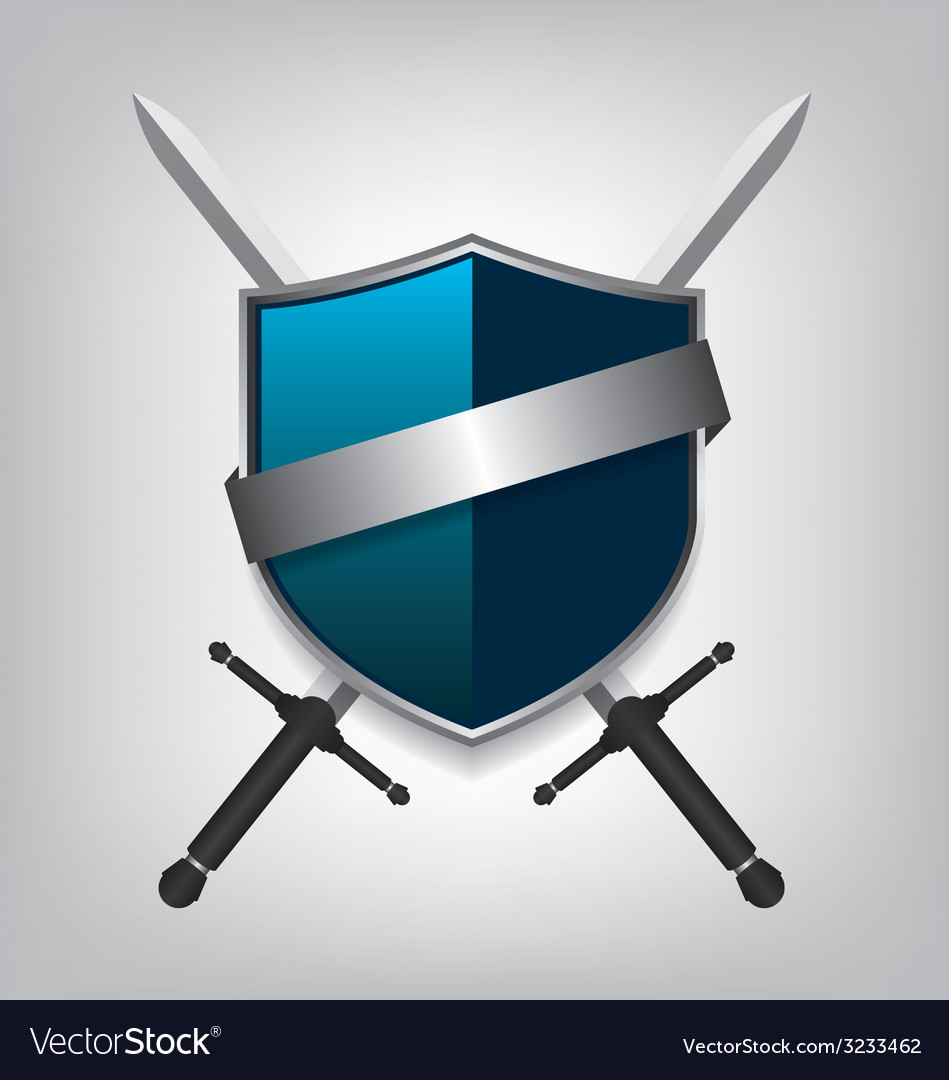 Swords and shield vector | Price: 1 Credit (USD $1)