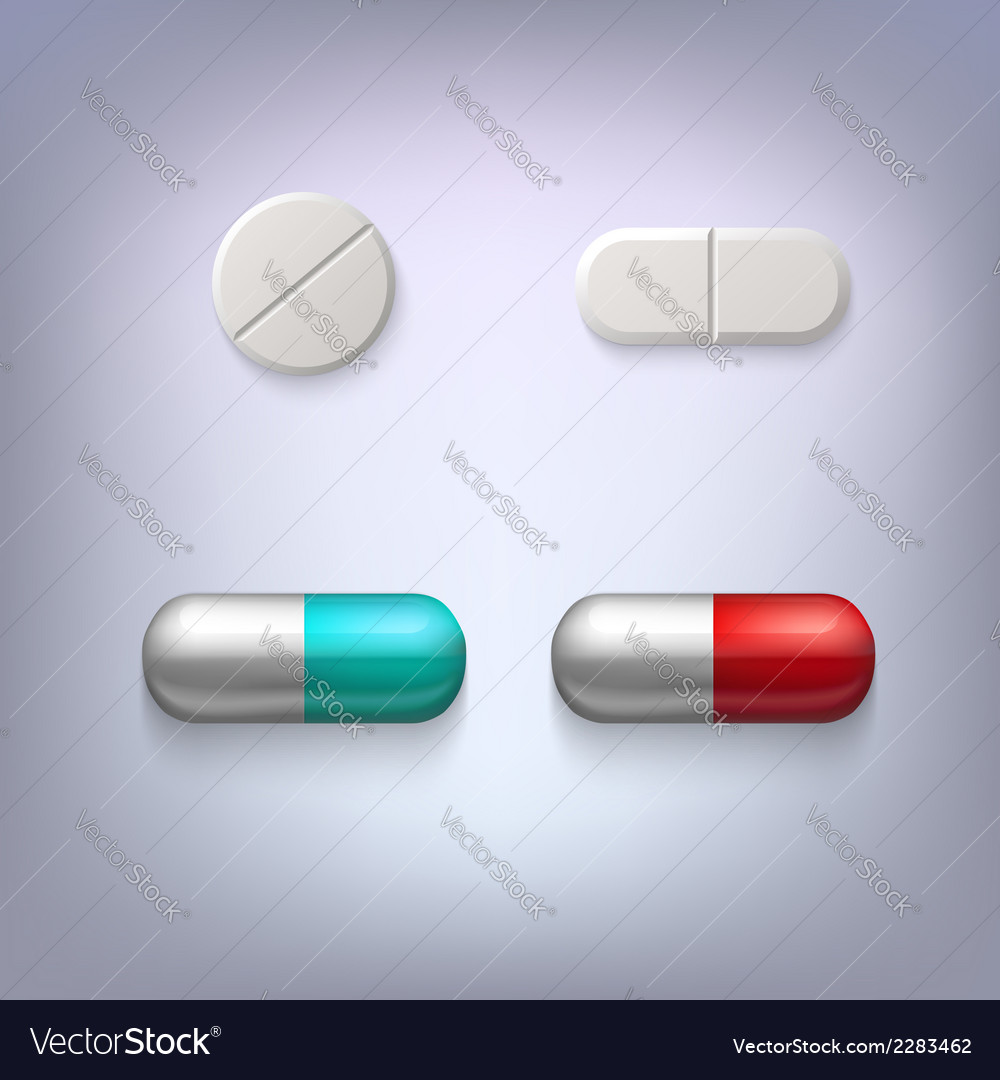 Tablets and pills vector | Price: 1 Credit (USD $1)