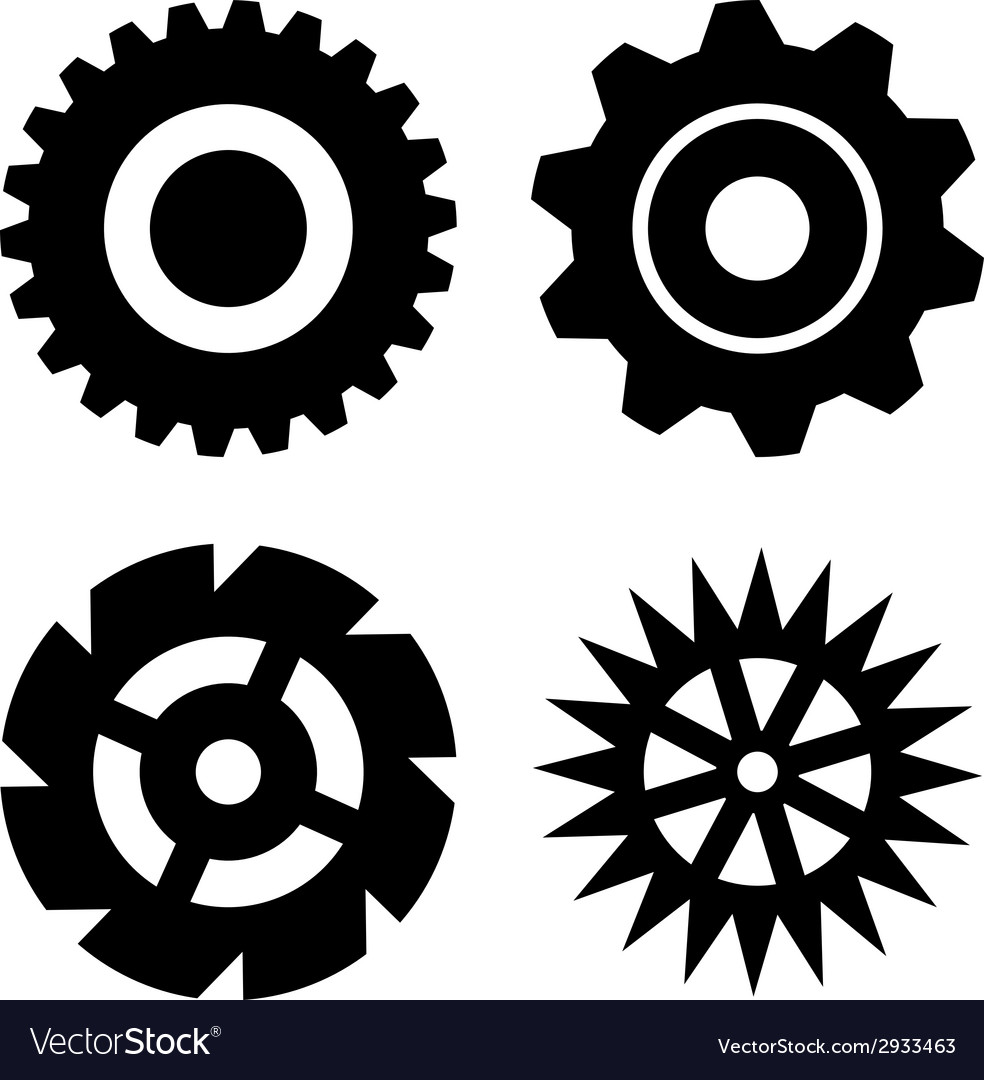 Black gears vector | Price: 1 Credit (USD $1)
