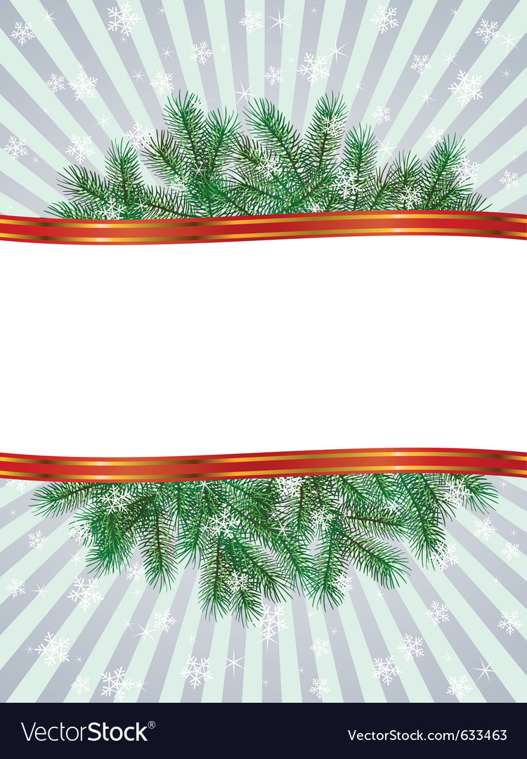 Christmas with fir branch pattern frame vector | Price: 1 Credit (USD $1)