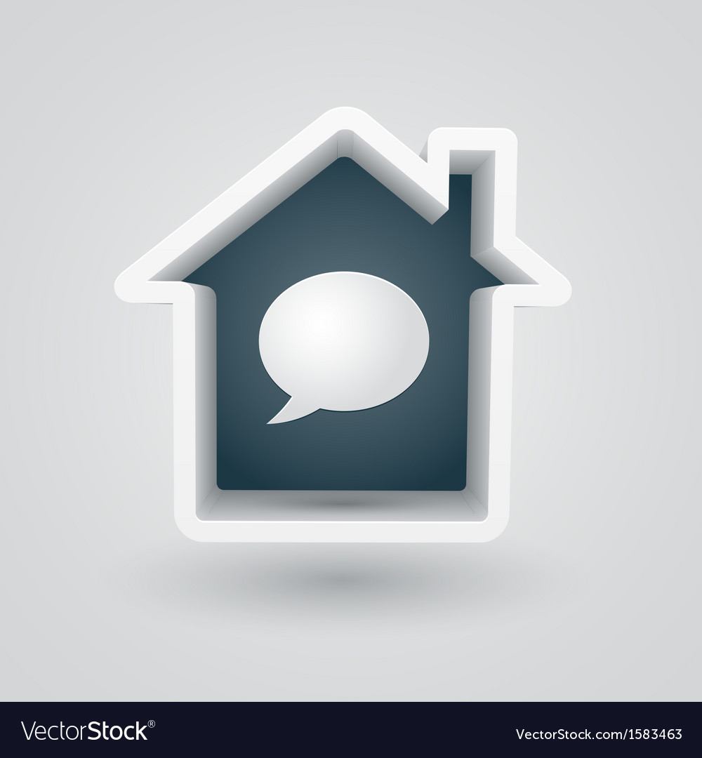 House chat vector | Price: 1 Credit (USD $1)
