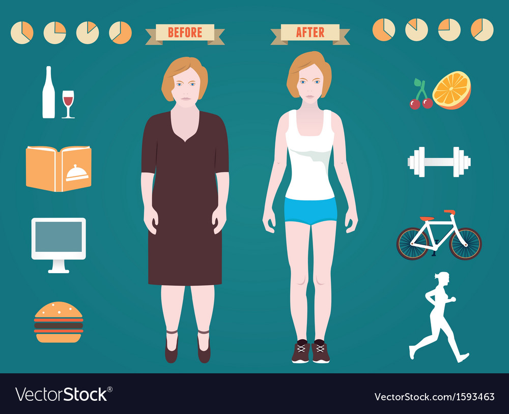 Infographic of fitness and sport vector | Price: 1 Credit (USD $1)