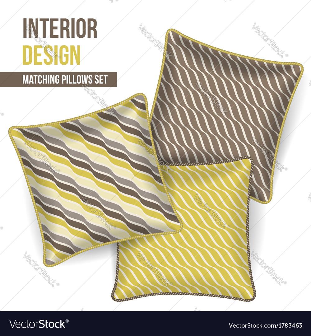 Set of decorative pillows vector | Price: 1 Credit (USD $1)
