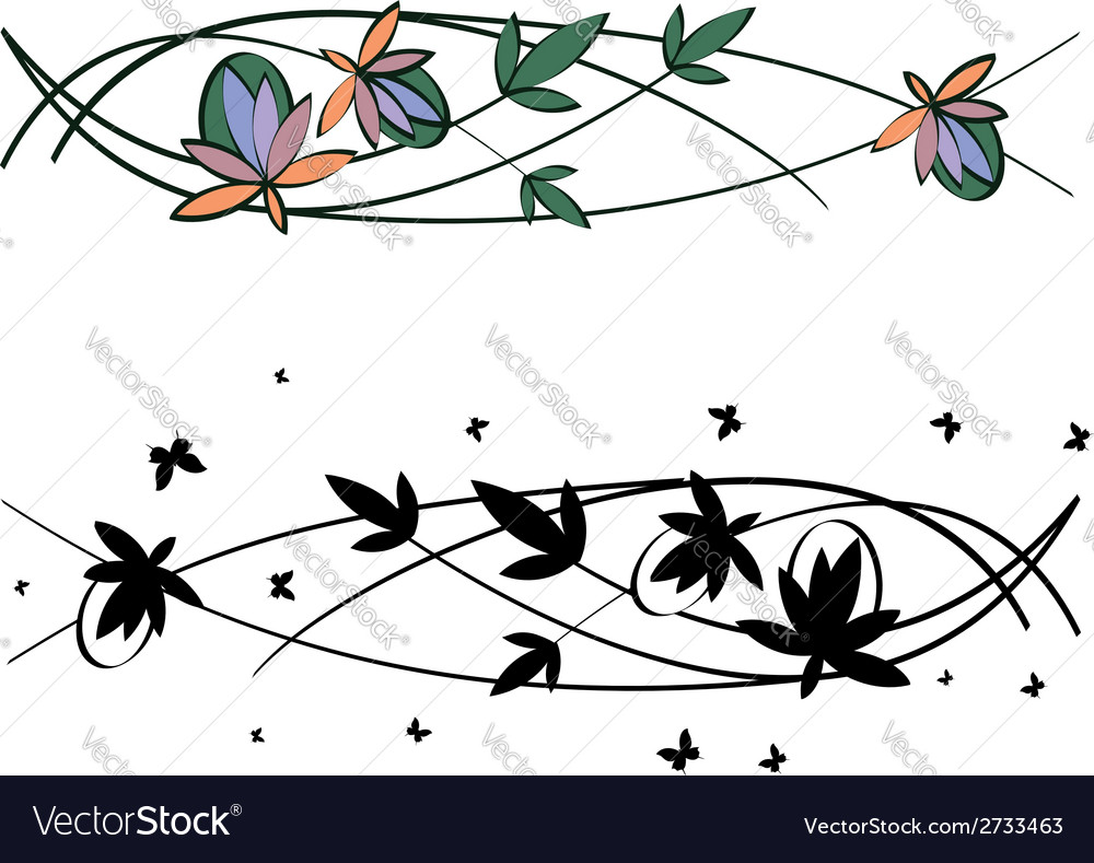 Set of floral patterns vector | Price: 1 Credit (USD $1)