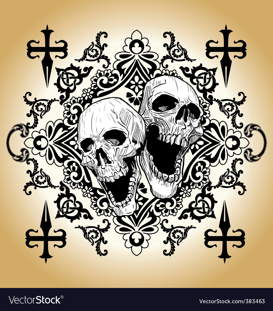 Skull tattoo vector | Price: 1 Credit (USD $1)