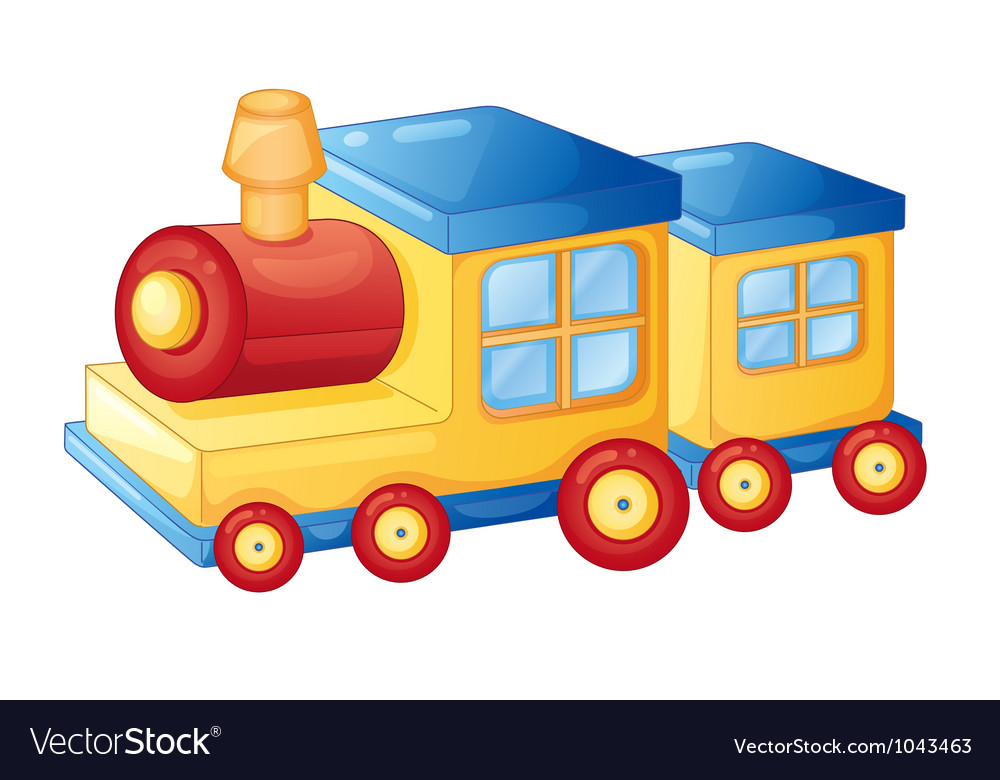 Toy train vector | Price: 1 Credit (USD $1)