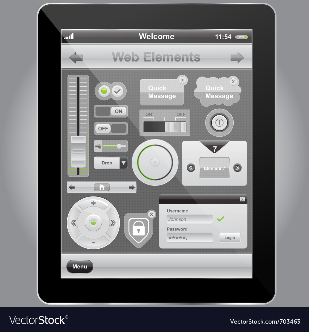 Web and mobile interface vector | Price: 3 Credit (USD $3)