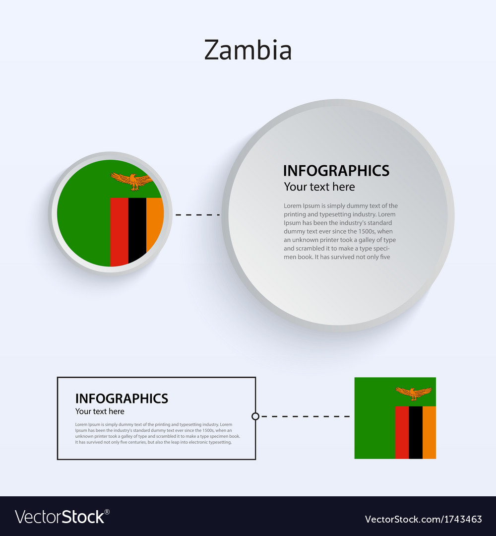 Zambia country set of banners vector | Price: 1 Credit (USD $1)