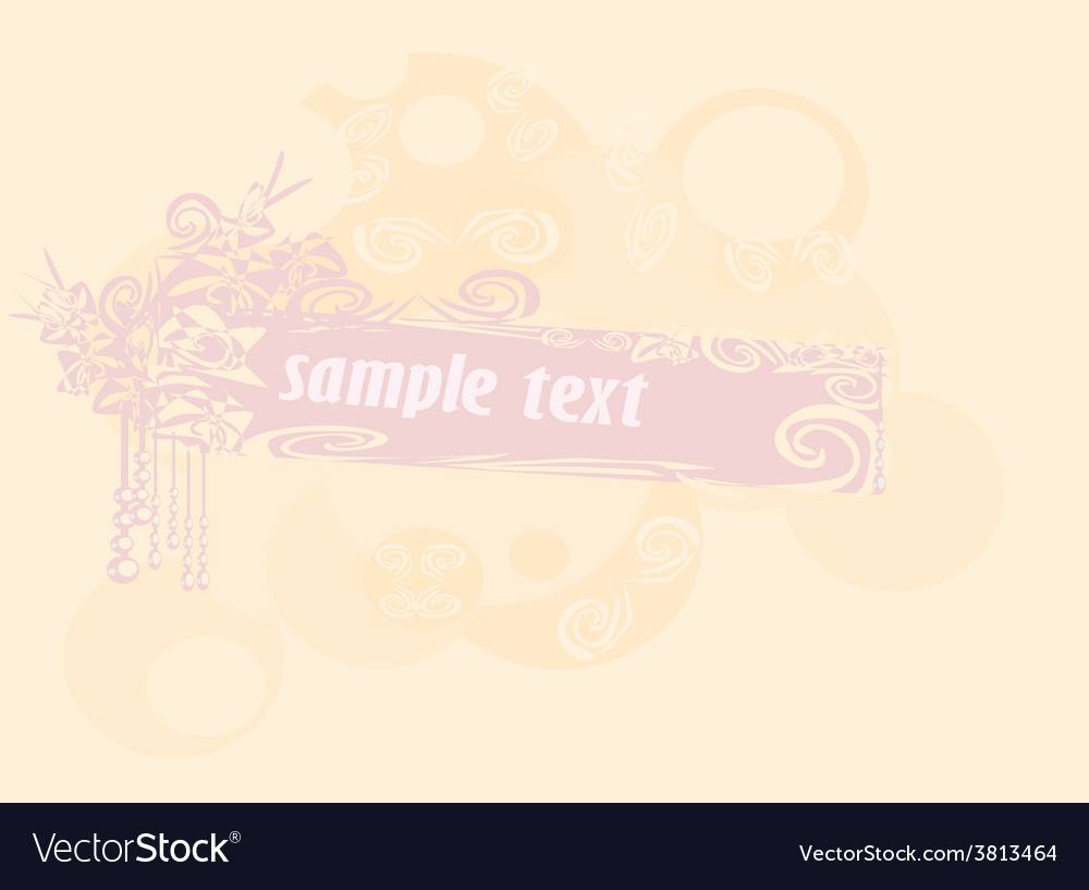 Abstract invitation card vector | Price: 1 Credit (USD $1)