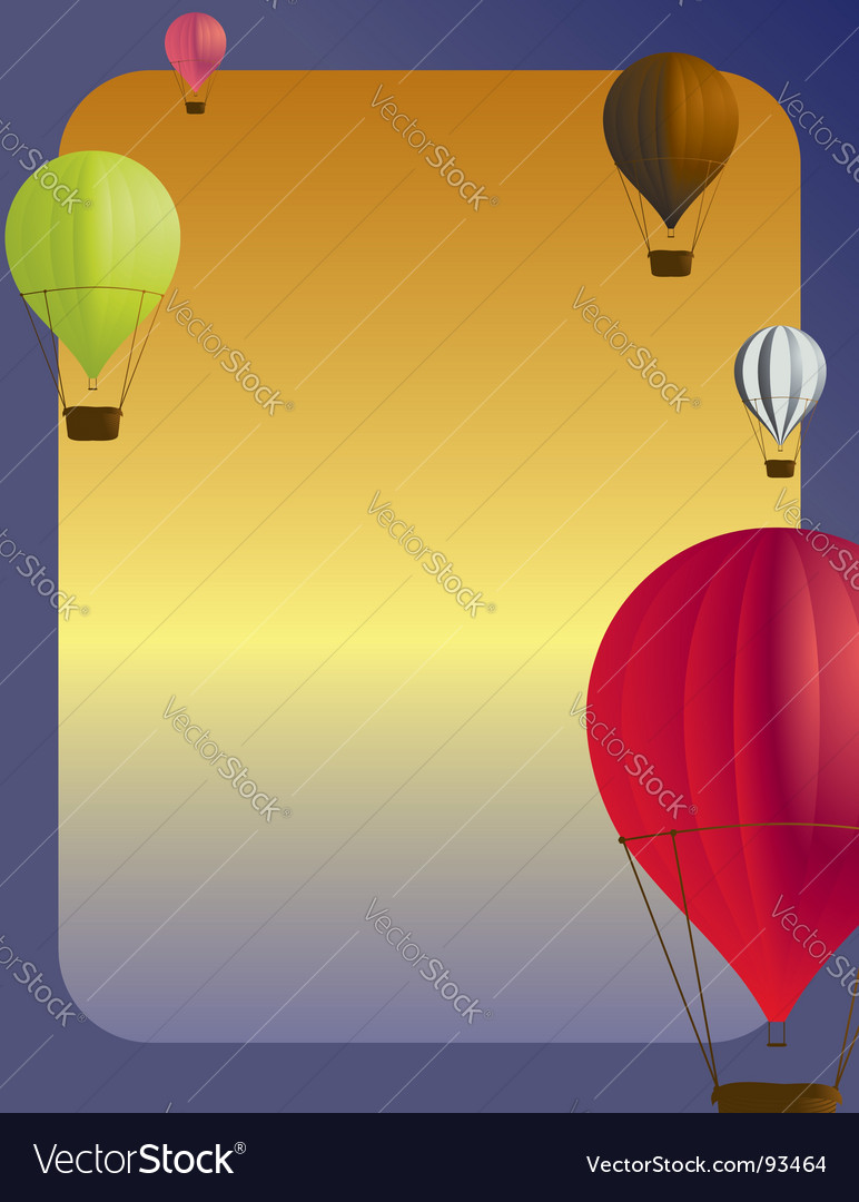 Air balloon background vector | Price: 1 Credit (USD $1)