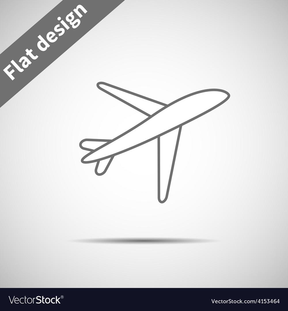 Airplane symbol vector | Price: 1 Credit (USD $1)