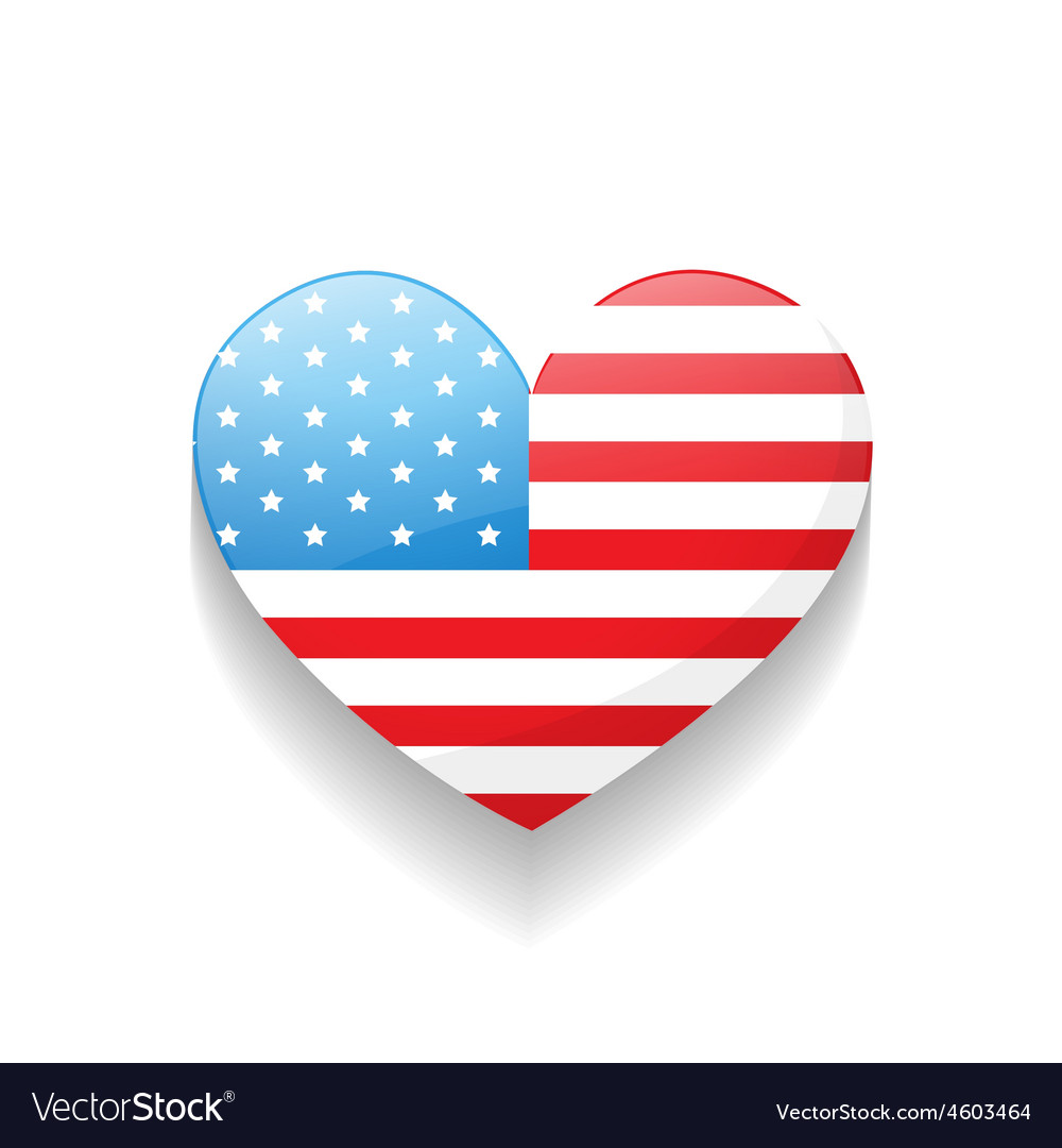 American independence day heart vector | Price: 3 Credit (USD $3)