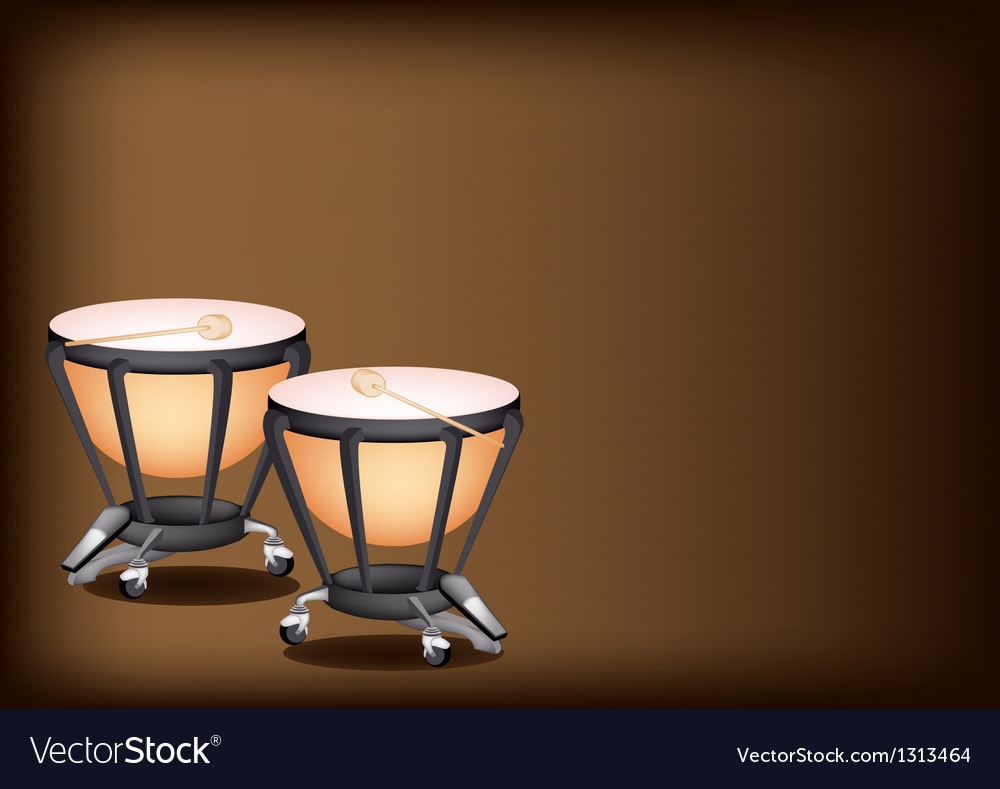 Classical timpanis on dark brown background vector | Price: 1 Credit (USD $1)