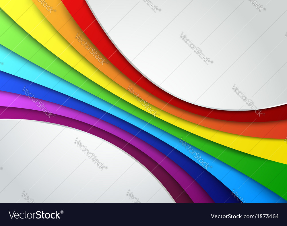 Colorful rainbow wave - perspective vector | Price: 1 Credit (USD $1)