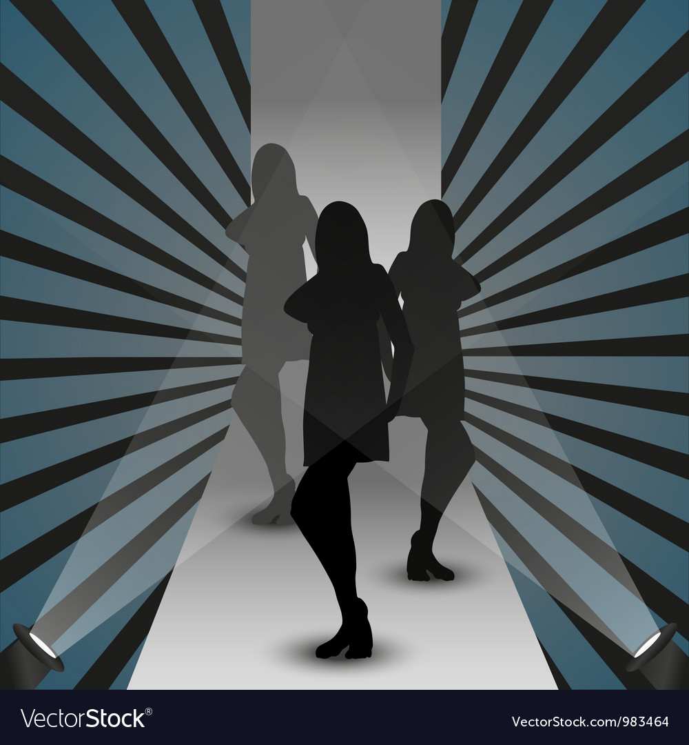 Fashion show silhouette vector | Price: 1 Credit (USD $1)