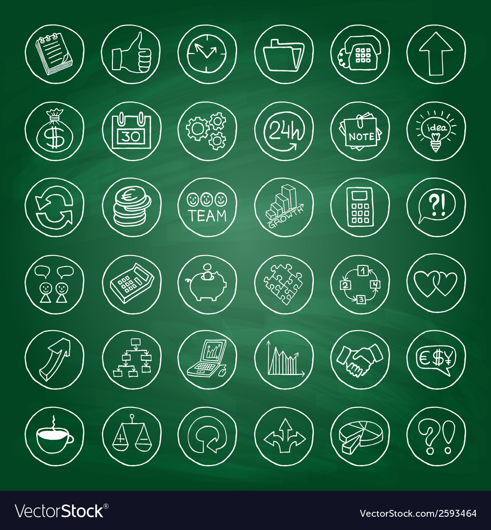Hand drawn business set of buttons vector   Price: 1 Credit (USD $1)