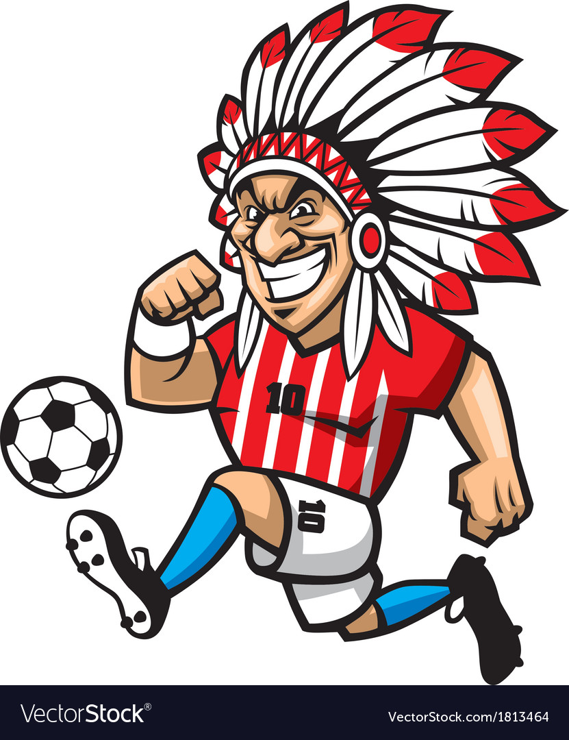 Indian chief soccer mascot vector | Price: 1 Credit (USD $1)
