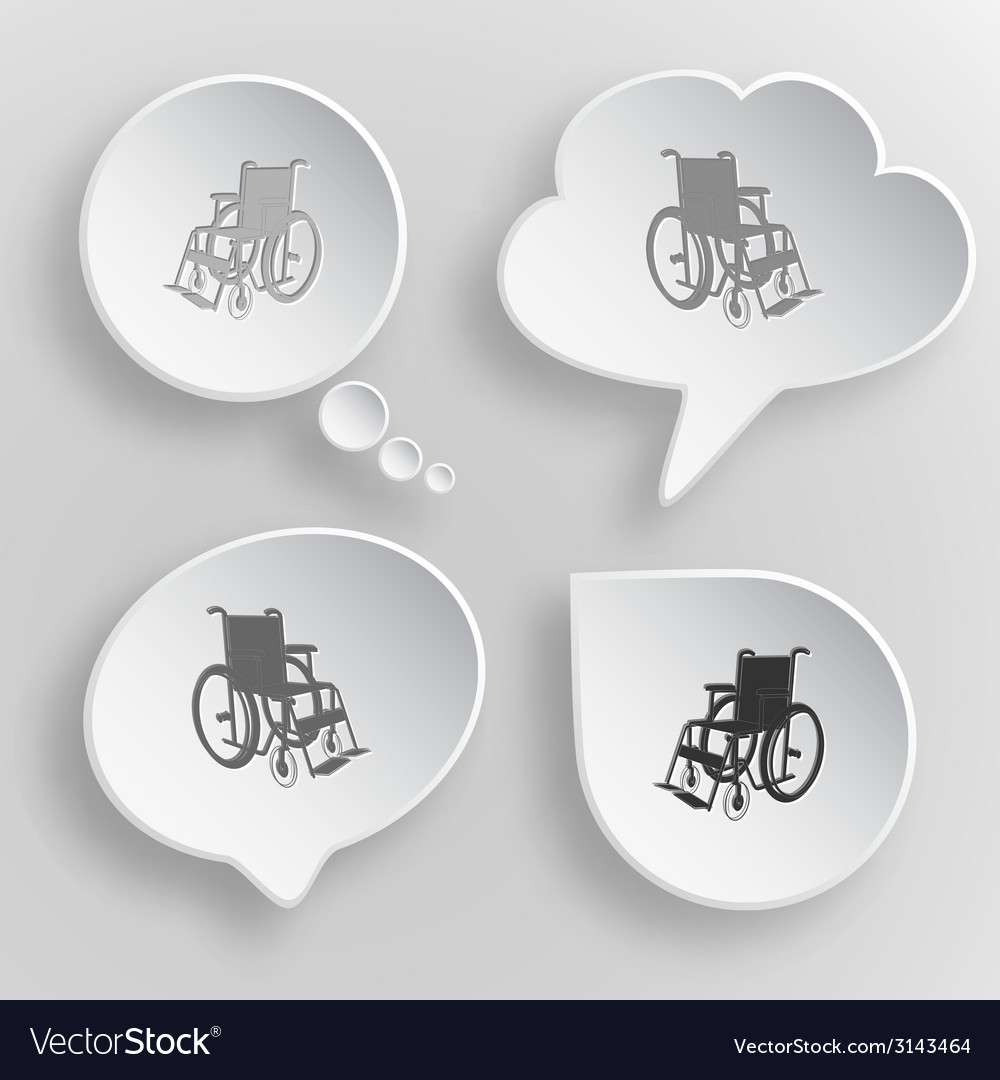 Invalid chair white flat buttons on gray vector | Price: 1 Credit (USD $1)