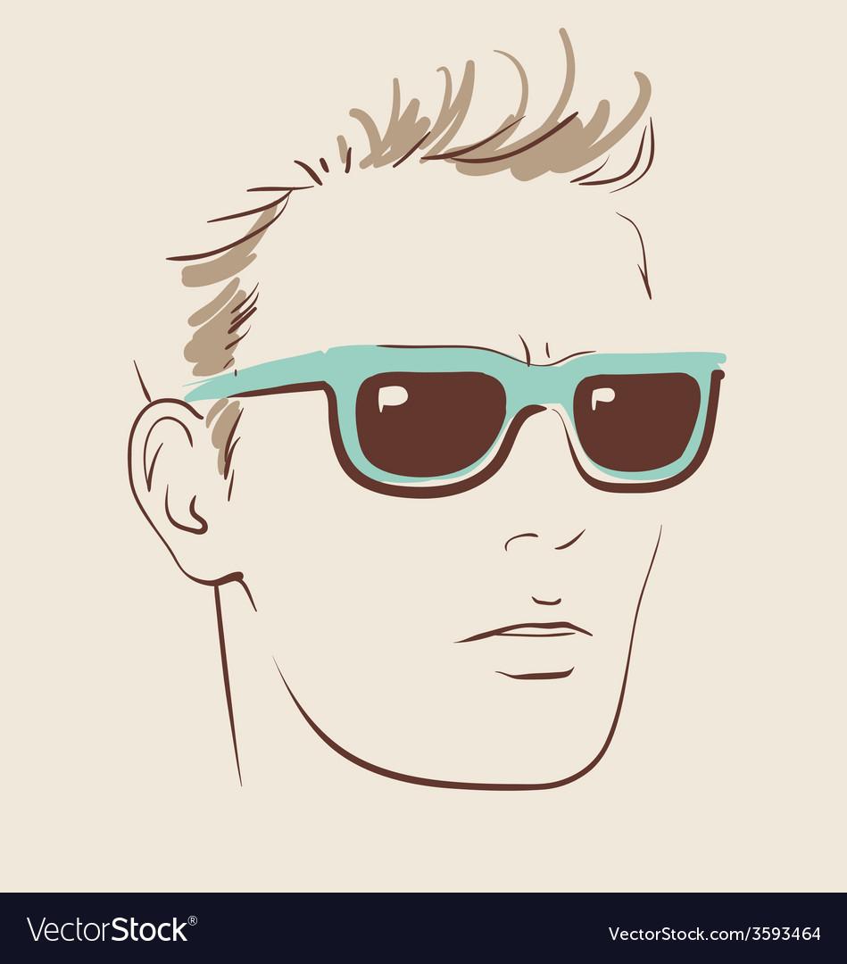 Man in glasses eps 10 vector | Price: 1 Credit (USD $1)