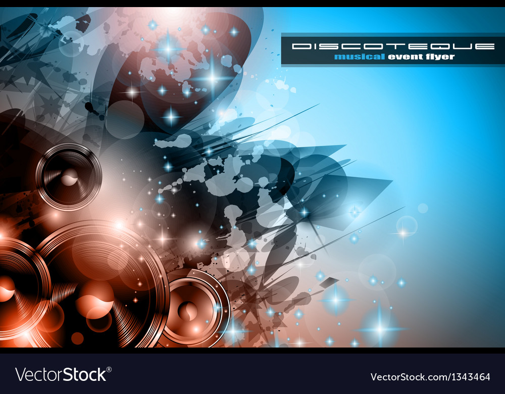 Music club background for disco dance posters vector | Price: 1 Credit (USD $1)