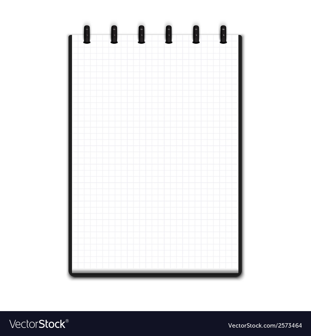 Realistic blank notepad vector | Price: 1 Credit (USD $1)
