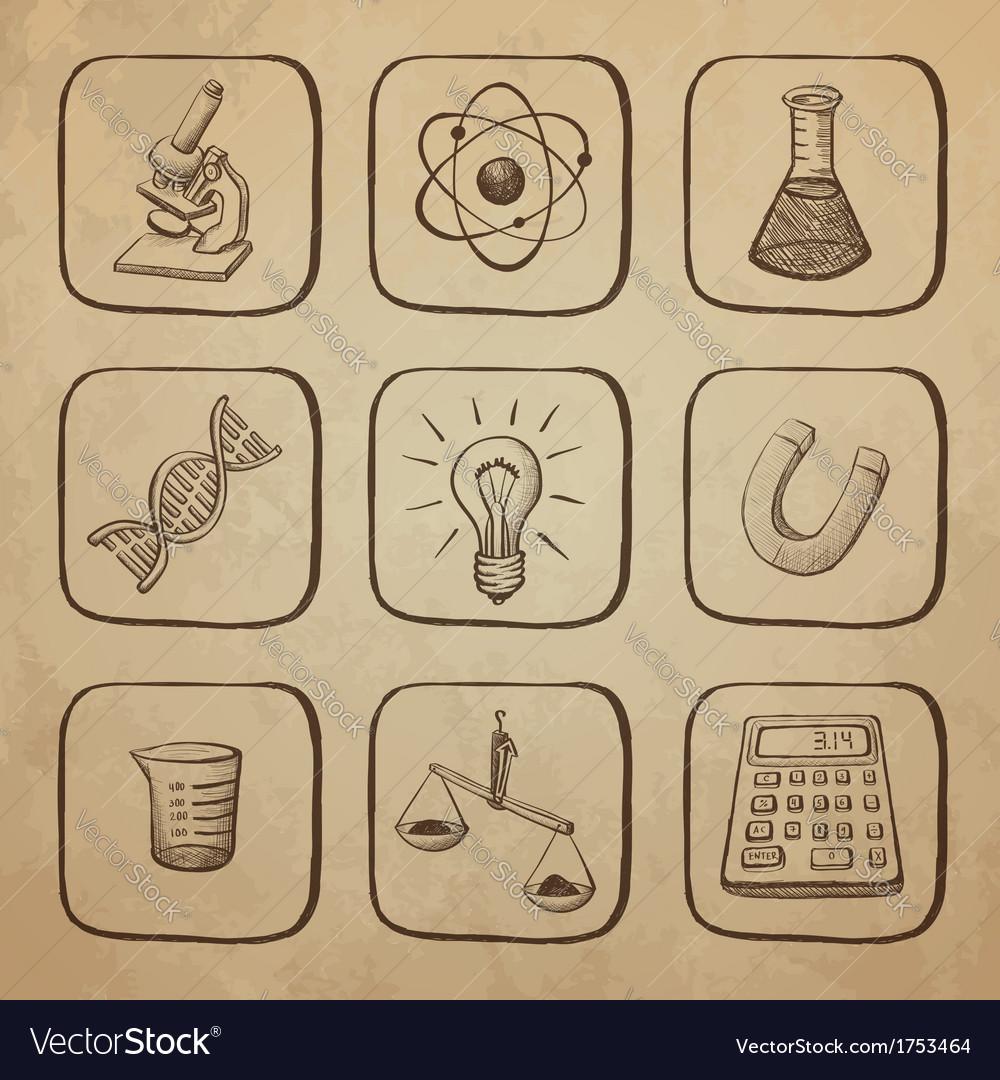 Science icons sketch vector | Price: 1 Credit (USD $1)