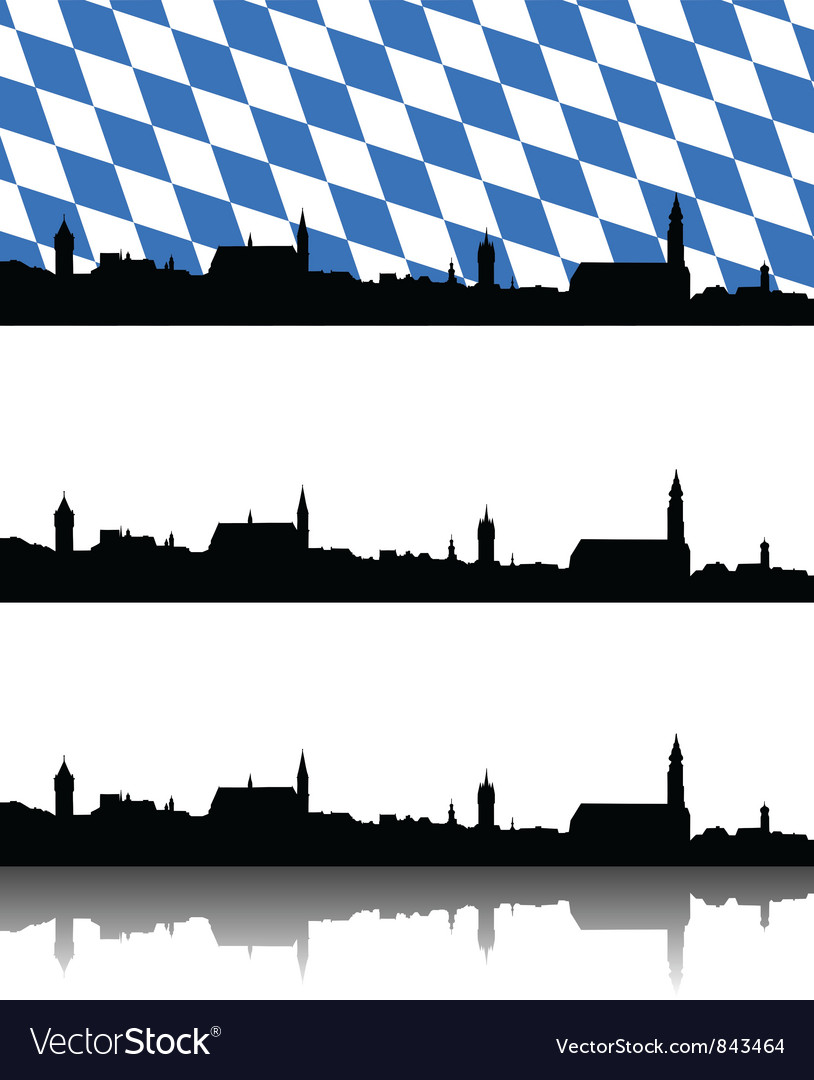 Silhouette of straubing bavaria vector | Price: 1 Credit (USD $1)