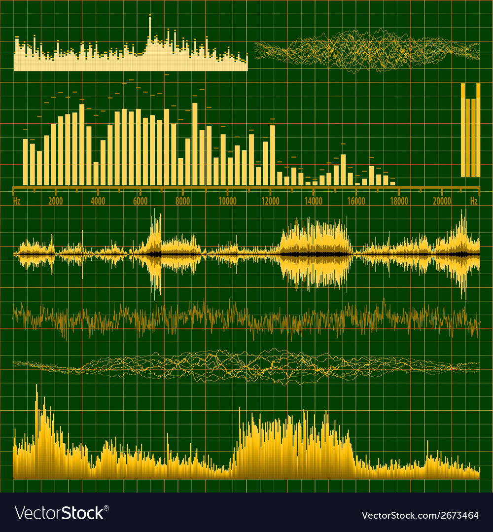 Sound waves set music background eps 10 vector | Price: 1 Credit (USD $1)