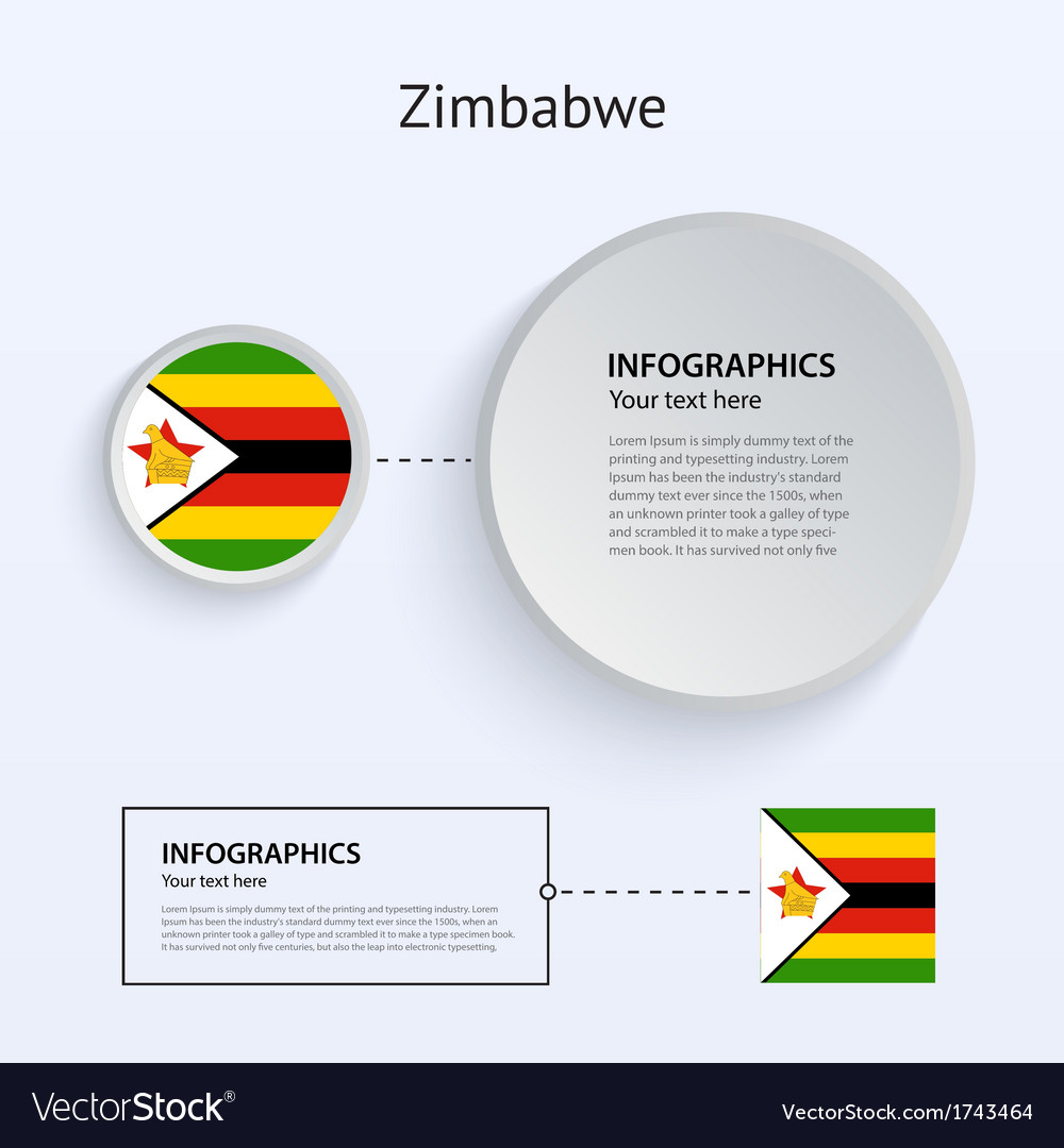 Zimbabwe country set of banners vector | Price: 1 Credit (USD $1)