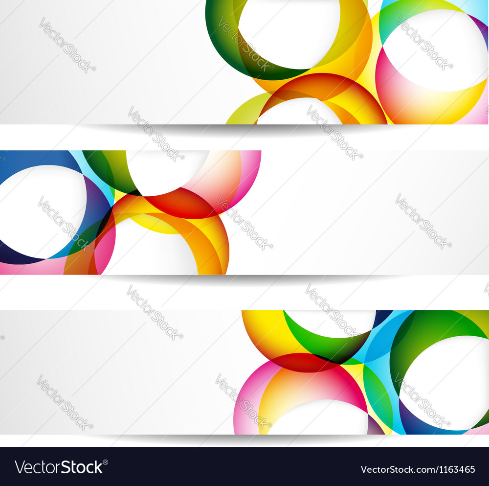 Abstract colorful banners vector | Price: 1 Credit (USD $1)