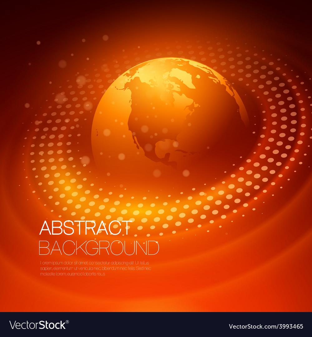 Background with glowing space orbit vector | Price: 1 Credit (USD $1)