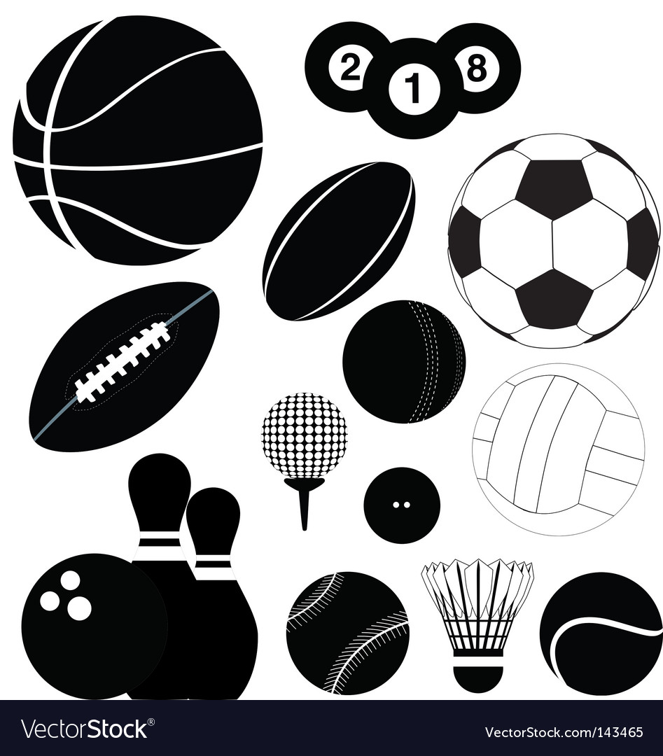 Balls silhouettes vector | Price: 1 Credit (USD $1)