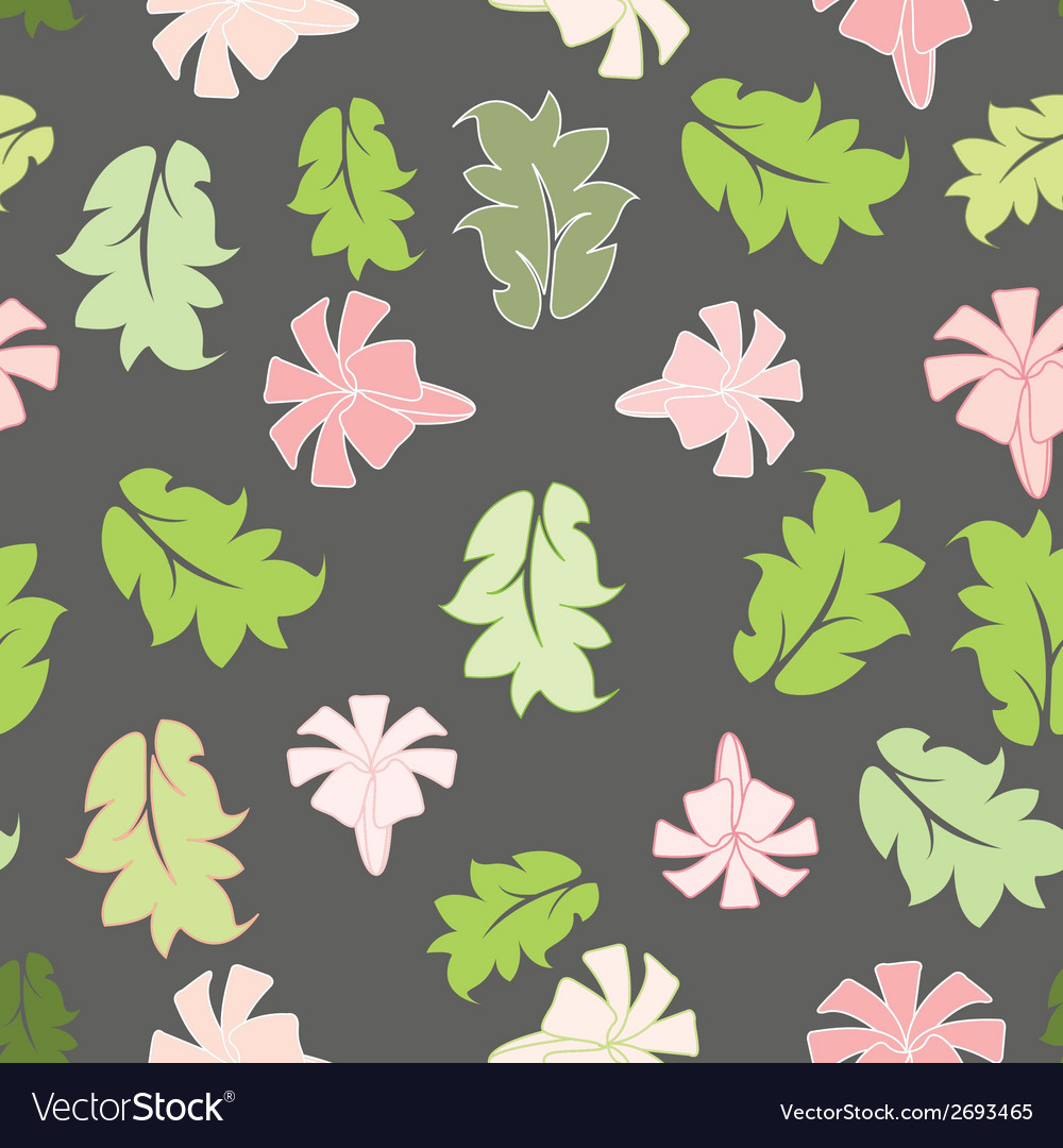 Beautiful flower seamless pattern vector | Price: 1 Credit (USD $1)