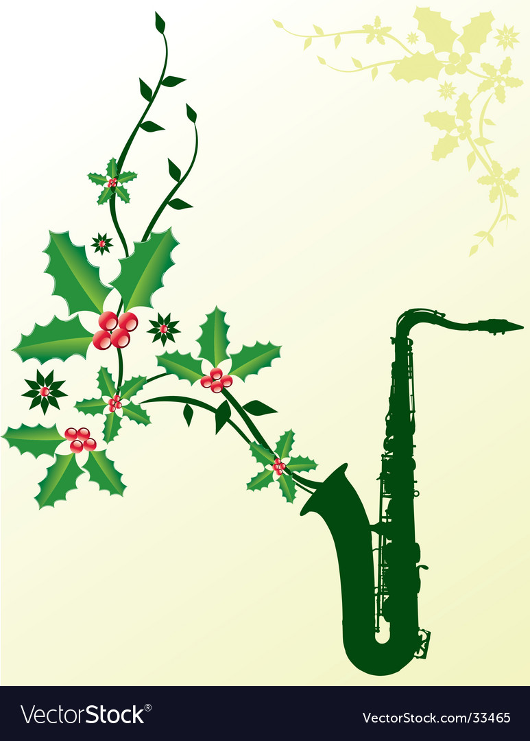 Christmas sax vector | Price: 1 Credit (USD $1)
