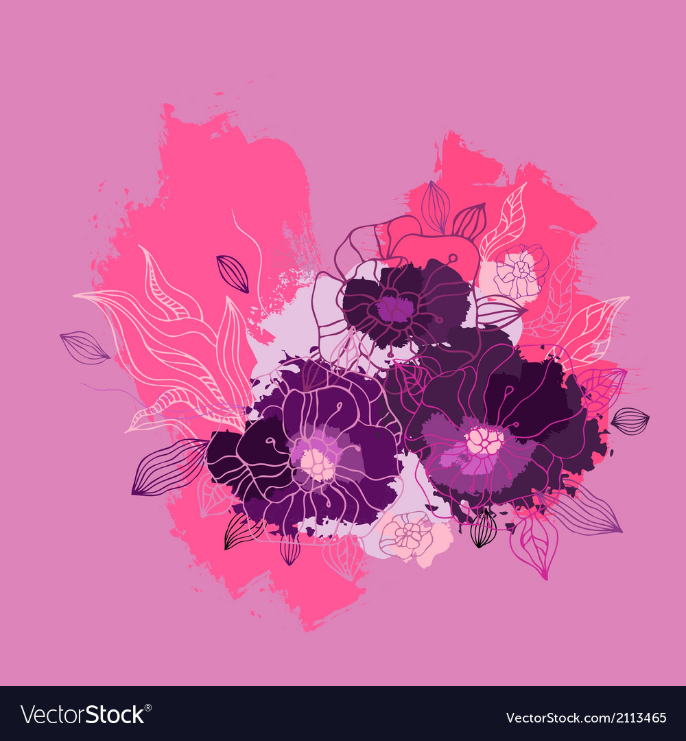 Decorative floral background vector | Price: 1 Credit (USD $1)