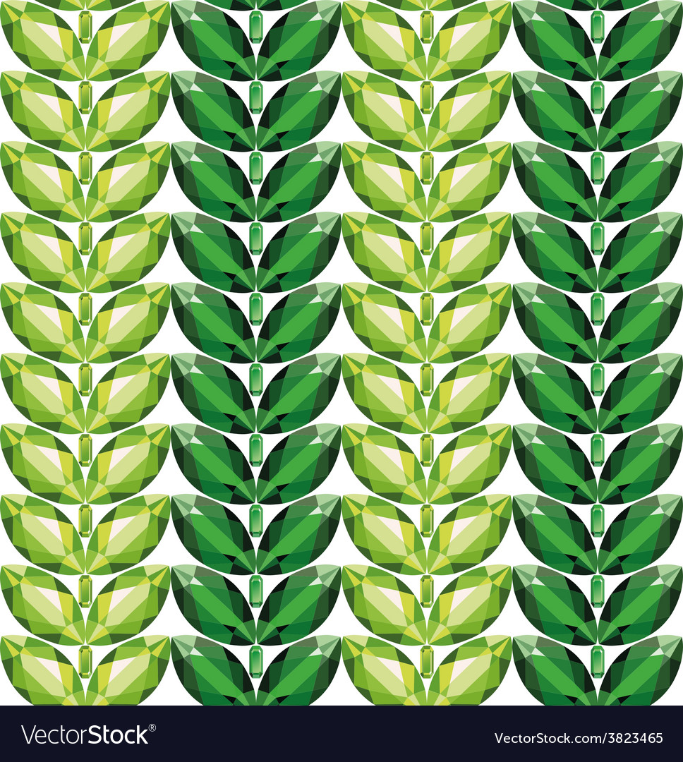 Emeralds leaves seamless texture vector | Price: 1 Credit (USD $1)